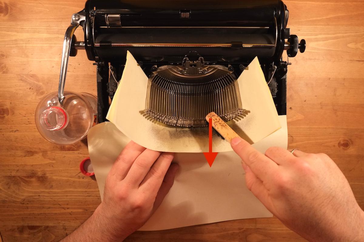 Чистка пишущей (печатной) машинки