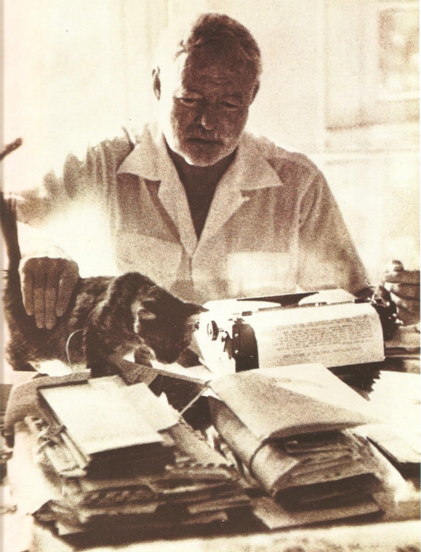 Эрнест Хэмингуэй, кот и пишущая машинка